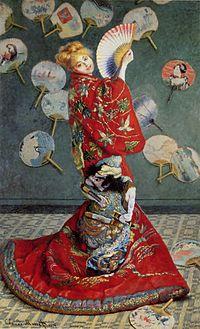 モネの「ラ・ジャポネーズ」画像
